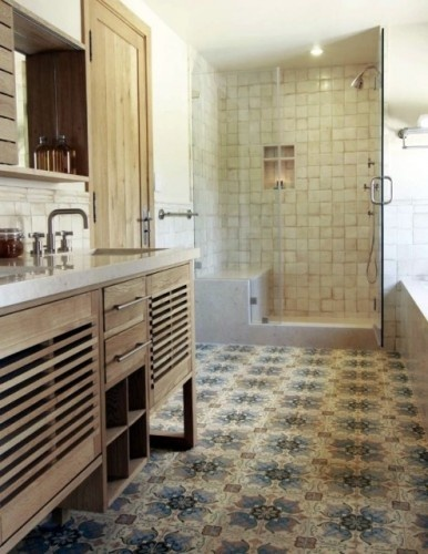 Spanish tile floor bathroom pinterest - Spanish floor tile designs ...