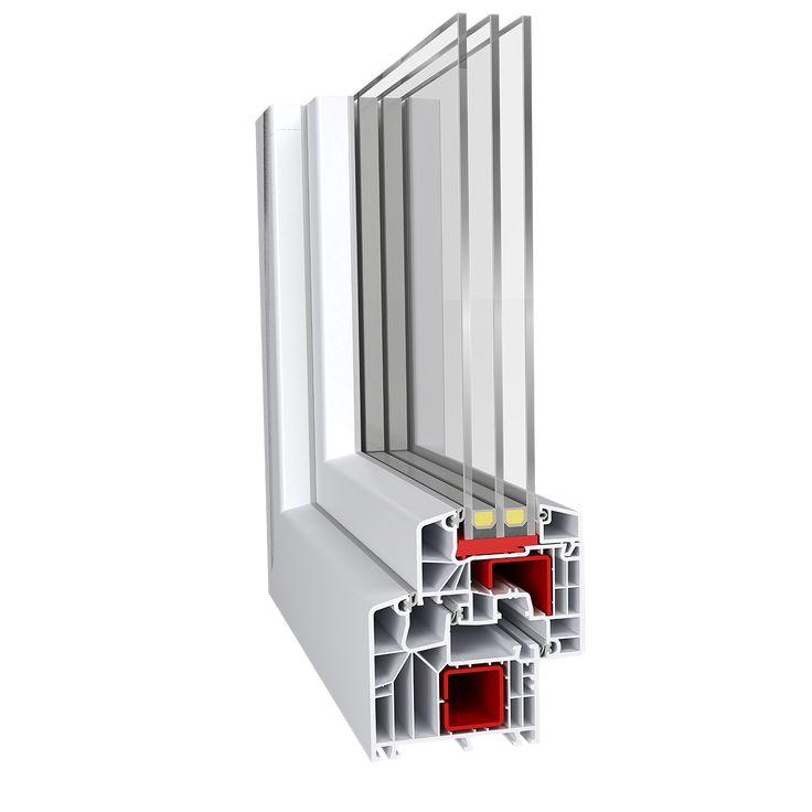 IDEAL 8000® classicline  Έχετε την δυνατότητα να αγγίξετε το τέλειο με Uw= 0,67 W/m²K. Εξαθαλαμικό προφίλ με τρία επίπεδα σφράγισης.Πάχος υάλωσης έως 59mm.