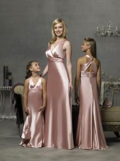 ONLY 98USD FREE SHIPPIN Floor-length Elastic Woven Satin Bridesmaid Dresses