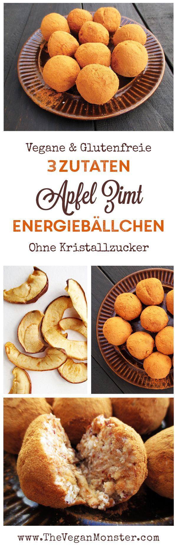Apfel Zimt Energiebällchen (Vegan, Glutenfrei, Ohne Kristallzucker) | Das Vegan Monster - vegane & glutenfreie Rezepte