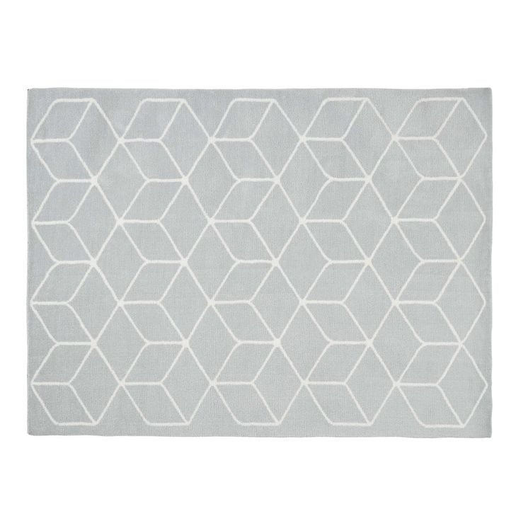 KUBE grey and white patterned cotton ...