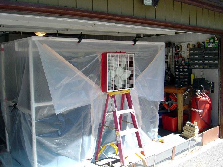 PVC spray paint booth...