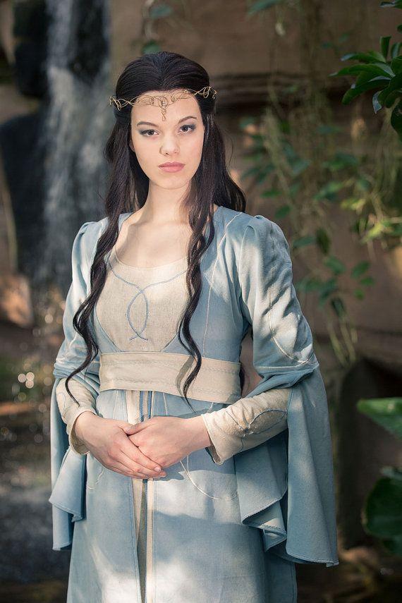 Elfen dress Luthien Tinuviel elvish dress by Gewandfantasien