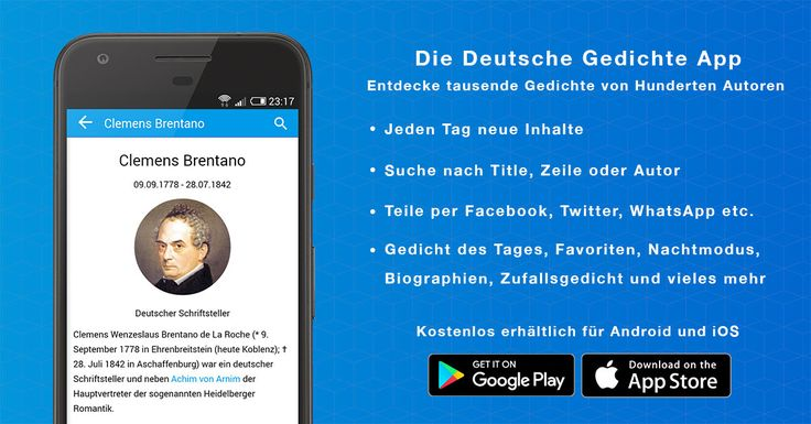 Wir haben heute eine neue Version der Deutsche #Gedichte #App für #Android und #iOS veröffentlicht.  Neu: Anpassen der Schriftgröße und eine verbesserte Suchfunktion, sowie mehrere Fehlerbehebungen.