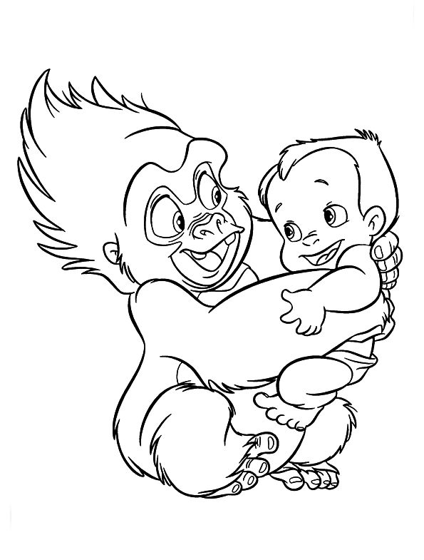 Baby Tarzan Coloring Pages Images & Pictures - Becuo