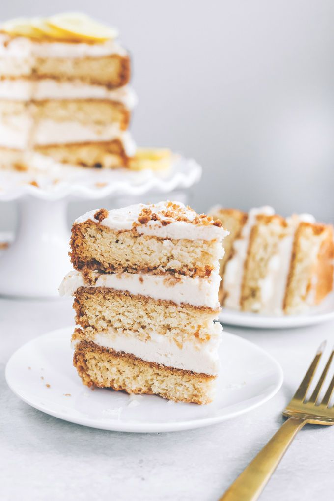 Vegan Lemon Cream Layer Cake