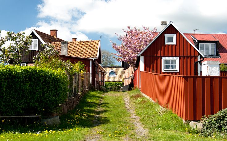 Old picturesque Kivik in Österlen, Skåne, Sweden