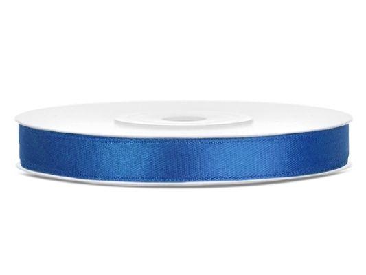 Saténová stuha kráľovská modrá 6mm
