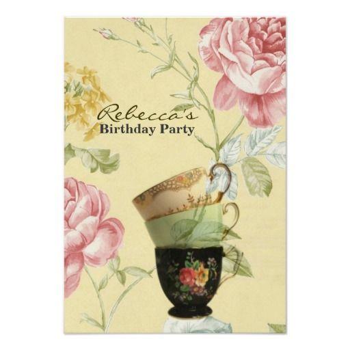 teacup invitations