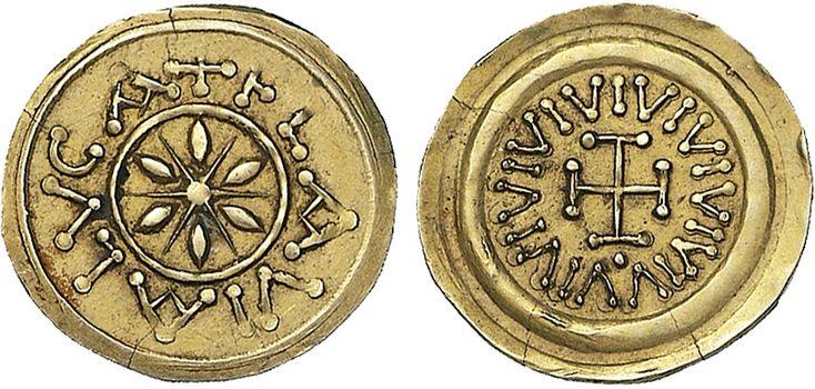 NumisBids: Nomisma Spa Auction 50, Lot 110 : LUCCA I Longobardi – Monetazione anonima (circa 650-749) Tremisse...