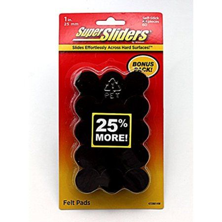 Super Sliders Waxman Private Floorcare Brands, Black
