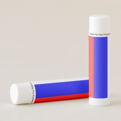Patriotic Lip Balm with flag of Russia - stylish gifts unique cool diy customize