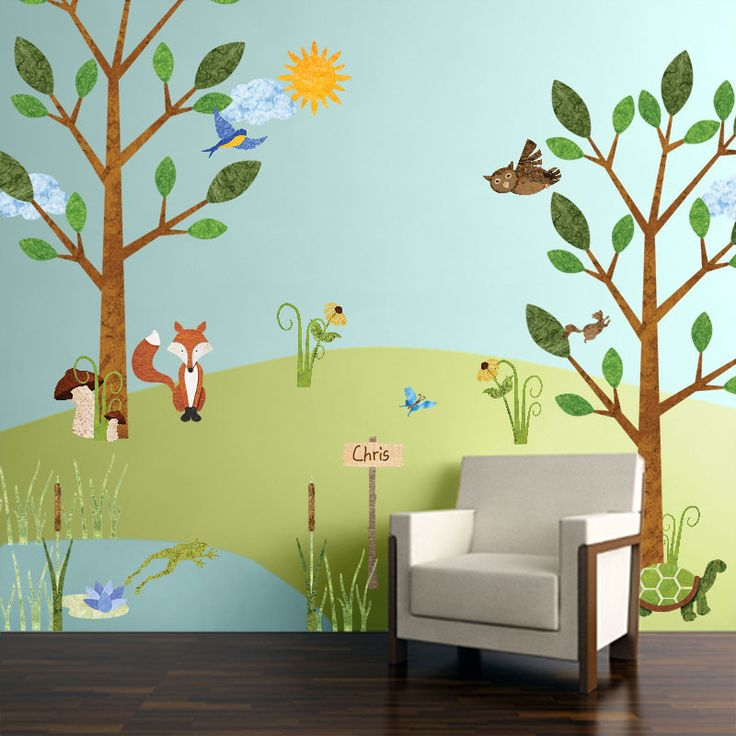 Best 20  Forest friends nursery ideas on Pinterest Forest Friends Wall Sticker Kit   Nature Decals for Forest Animal Theme Room. Forest Themed Bedroom. Home Design Ideas