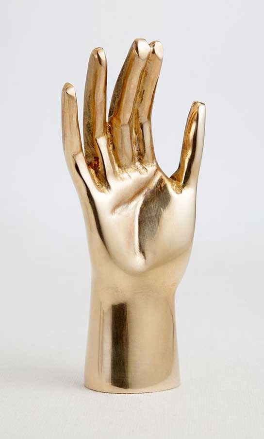 KELLY WEARSTLER | SAINTS HAND. Kelly's signature figural sculpture