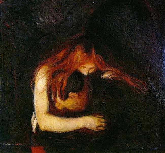 """Vampire"" by Edvard Munch."