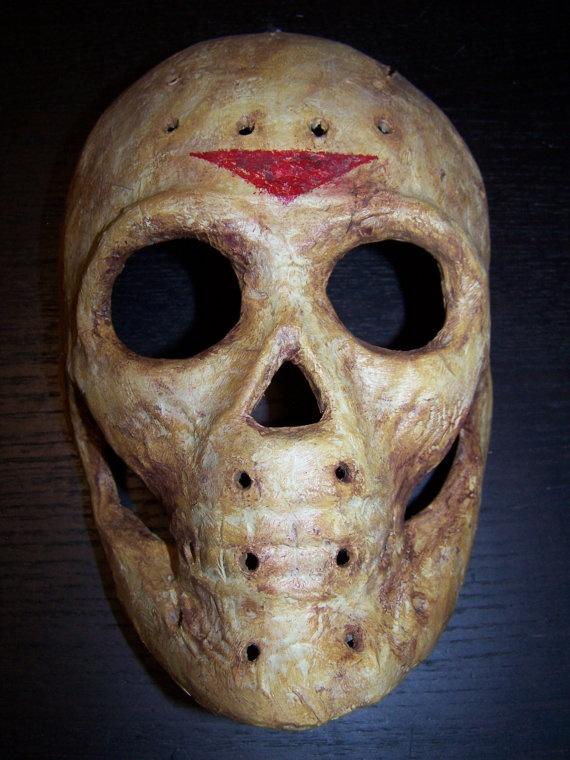 Jason Vorhees original Paper Mache Skull Mask by PlanetDoom, $20.00
