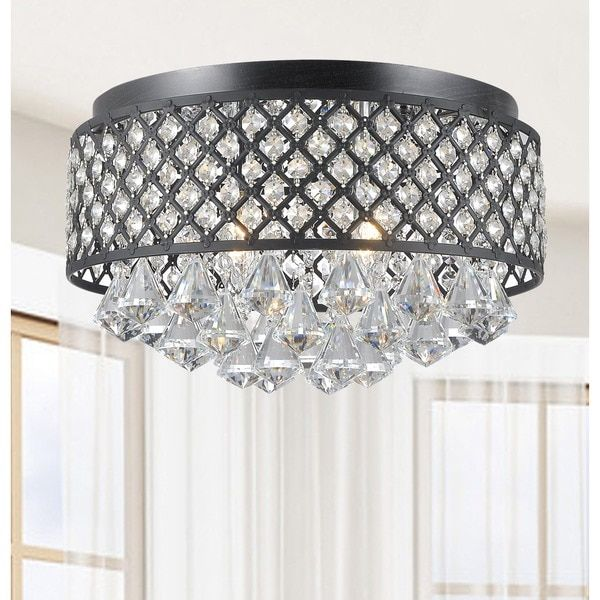 Create a strong sense of style in your home by adding this lovely and visually striking chandelier to the decor in your living space. Featuring crystal accents, this chandelier will grab the attention