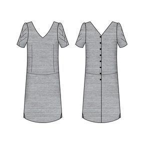 Modèle femme Avec sa coupe droite et la couture de taille descendue aux hanches, Pachira est une robe dont toute la féminité se révèle dans le décolleté. L'échancrure du dos se termine par une longue série de boutons. Au tressage des manches répond une découpe dans le bas de la jupe. A porter à la belle saison pour mettre la poitrine en valeur et cacher les rondeurs. Présentation en détails sur le blog blousetterose.wordpress.com Tailles : 34-36-38-40-42-44-46-48 * Stature: 1,68m * Tour d...