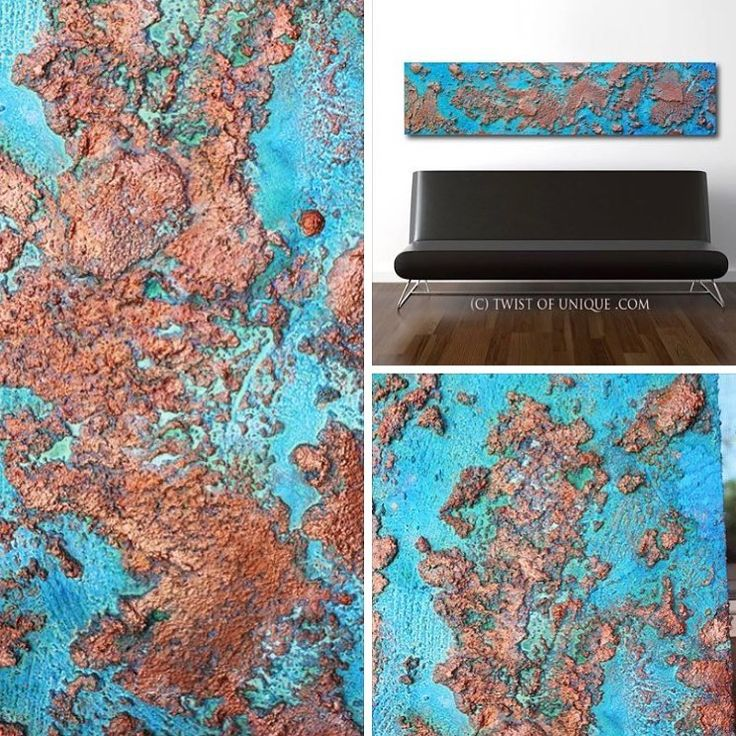 """Oxidized metal -One of the new 2017 Oxidized metal paintings """"Rose gold"""". check out the details for this one #art #painting #abstractart #interiordesign #contemporaryart #color #bigart #decor"""
