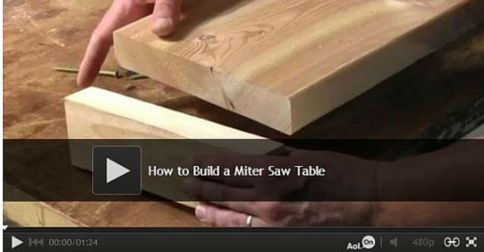 How to Build a Miter Saw Table: Make your own pro-grade miter saw/work table. Watch video: http://www.familyhandyman.com/tools/miter-saws/how-to-build-a-miter-saw-table/view-all
