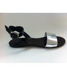 Sandale cu talpa joasa Black Silver