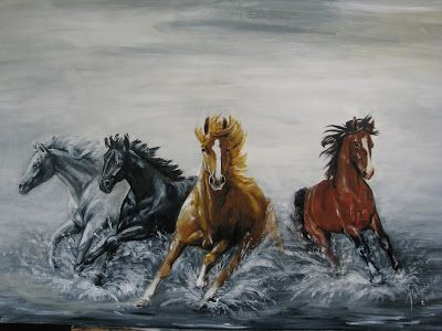 Ideas art for everyone, DIY - Joanna Wajdenfeld: PAINTING - HORSES