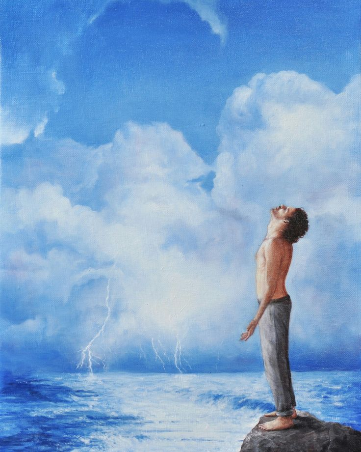 """""""Aquarius man"""", oil on canvas, 40x30cm, 2016"""