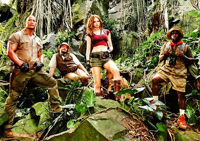 The Jumanji Cast Poses in the Jungle http://filmanons.besaba.com/the-jumanji-cast-poses-in-the-jungle/  The Jumanji cast poses in the jungle Cameras are still rolling on the new Jumanji movie from Sony Pictures and star Dwayne Johnson has provided a new set photo featuring the principal Jumanji cast. The actor has also provided a comment about the movie's move from summer to Christmas of 2017. Check out the full […]