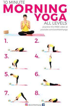 KOSTENLOSES YouTube-Video! 10 Minuten Morgen Yoga für Anfänger ALL LEVELS Yoga-Routine – Sandra Nietzeldt