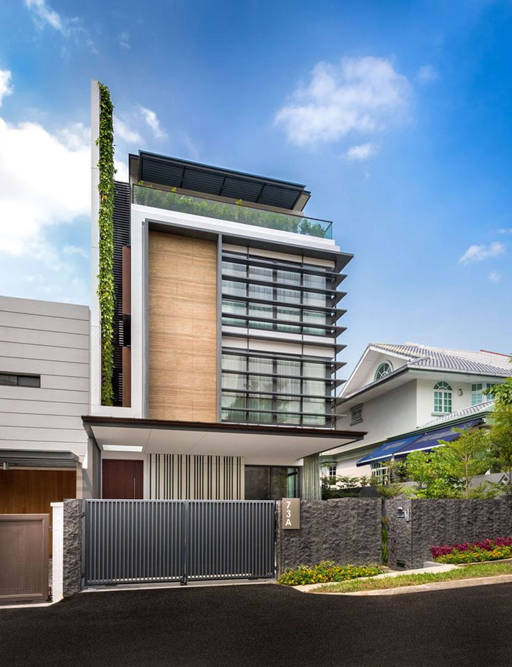 Dise o de casa moderna armoniza varios materiales de for Casa moderna 44 belvedere