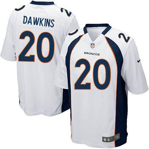 Men's Nike Denver Broncos #20 Brian Dawkins Limited White NFL Jersey Sale