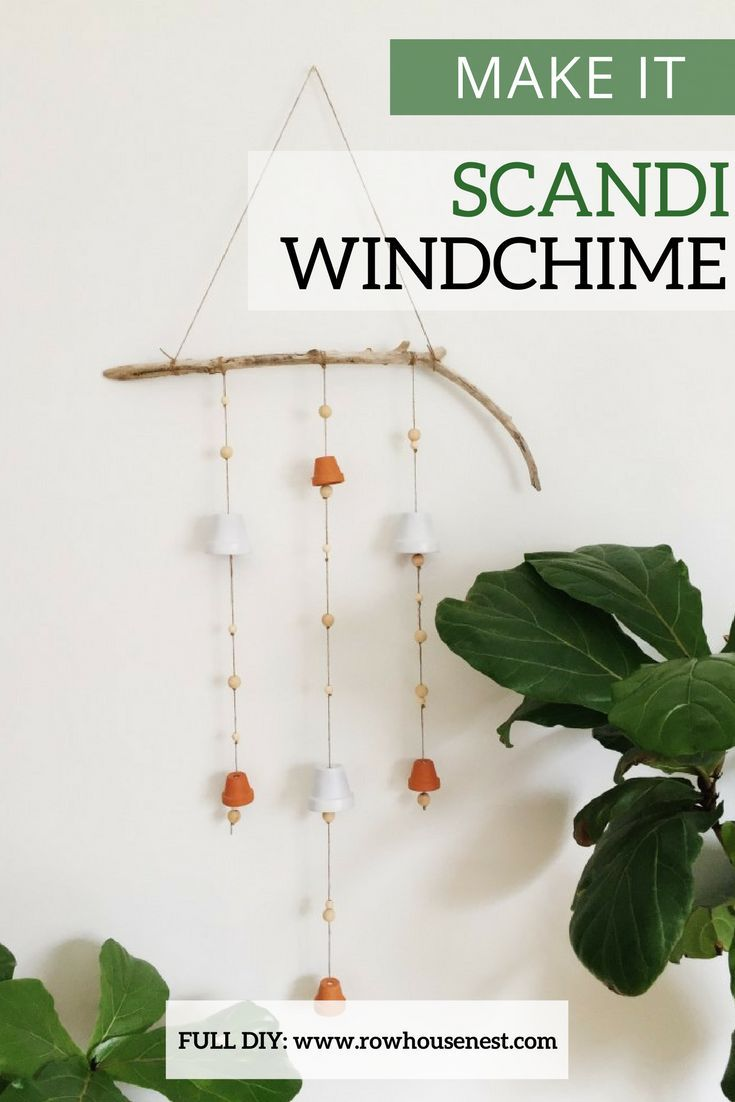 I gathered up all natural materials and created a Scandinavian wind chime. Simple, minimalist and perfect for reminding me of movement. This wind chime is a great weekend project, you could manage it in an hour or so over coffee (if you are have gathered up all your materials beforehand). #diy #diyblogger #diyhomedecor #scandinaviandesign #scandi