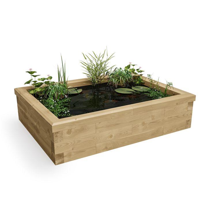 Raised Pond Kit Best Seller / 1.5 x 1.125 x 0.35m - Small Pond Kits - Timber Ponds - All Kits | WoodBlocX