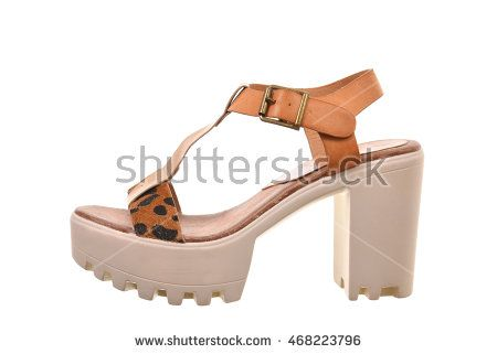 High heel woman shoe isolated on white background