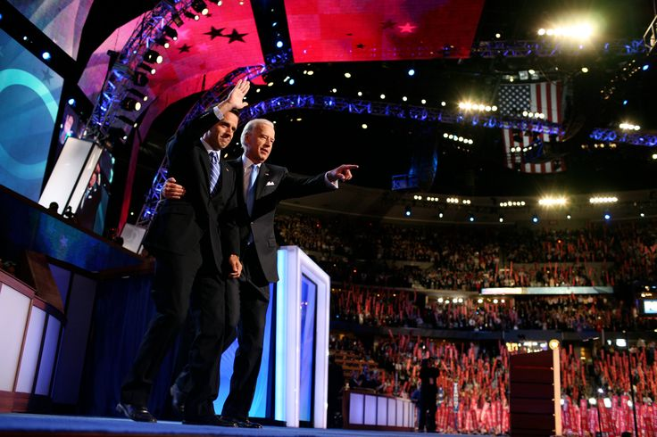 Beau Biden with his father, Joseph R. Biden Jr., at the Democratic National Convention in Denver in ... - Todd Heisler/The New York Times