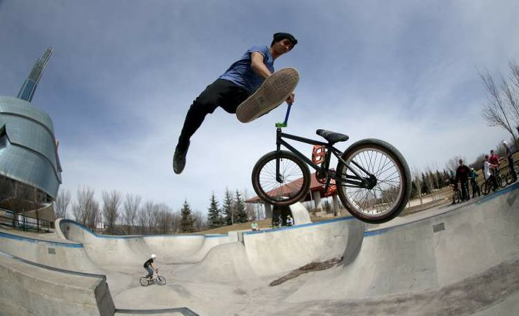 Skate Park at the Forks, downtown Winnipeg