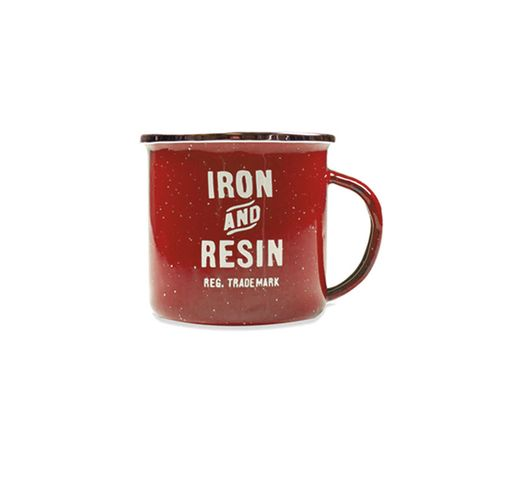IRON & RESIN ACCESSORIES, ENAMEL CAMP MUG, RED