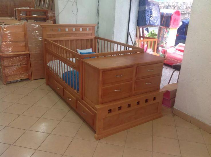 Cama Cuna Para Tu Bebé, Toda En Madera De Pino....oferta.... - $ 4,800.00 en Mercado Libre