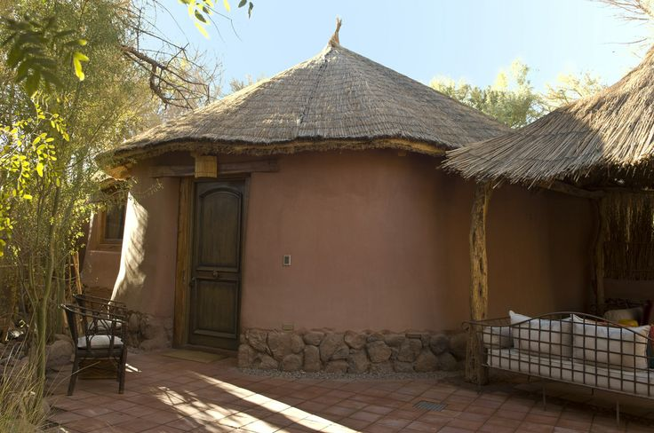 Outside of one of the Suites - All made out of local elements, such as adobe, stone and wood.