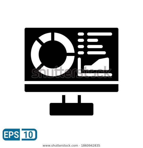 Statistics Icon Glyph Style Isolated On Stock Vector Royalty Free 1860942835 Glyphs Icon Stock Vector