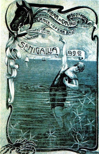 Vintage Italian Posters ~ Fiera dei Cavalli di Senigallia (1920) #illustrator #italian  #posters