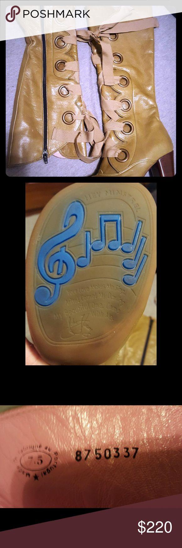 """John Fluevog Soprano Boots Unique, quality leather lace up boots by John Fluevog! Excellent condition! 2"""" heel. John Fluevog Shoes Lace Up Boots"""