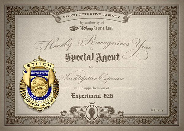 I just earned my Stitch Detective Certification! Track down Stitch for your chance to win a Disney Cruise Line vacation to Castaway Cay %u2013 Disney's private island!