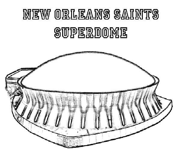 saints football coloring pages - photo#19