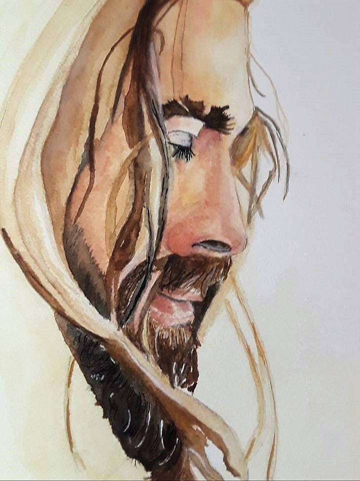Watercolor Jesus...still a work in progress   Jesus christ art, Jesus painting, Jesus art drawing