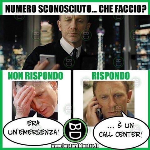 In #numero #sconosciuto ti chiama... che fai? Seguici su youtube/bastardidentro #bastardidentro www.bastardidentro.it