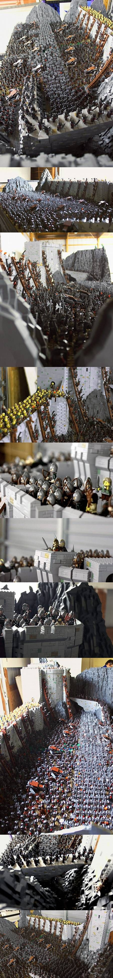 Lord of the Rings Battle of Helm's Deep Recreated with 150,000 LEGO Bricks - TechEBlog