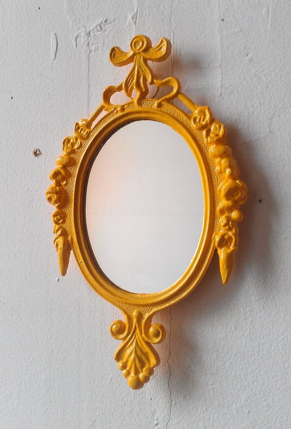 Small Mirror in Vintage Marigold Yellow by SecretWindowMirrors, $19.00