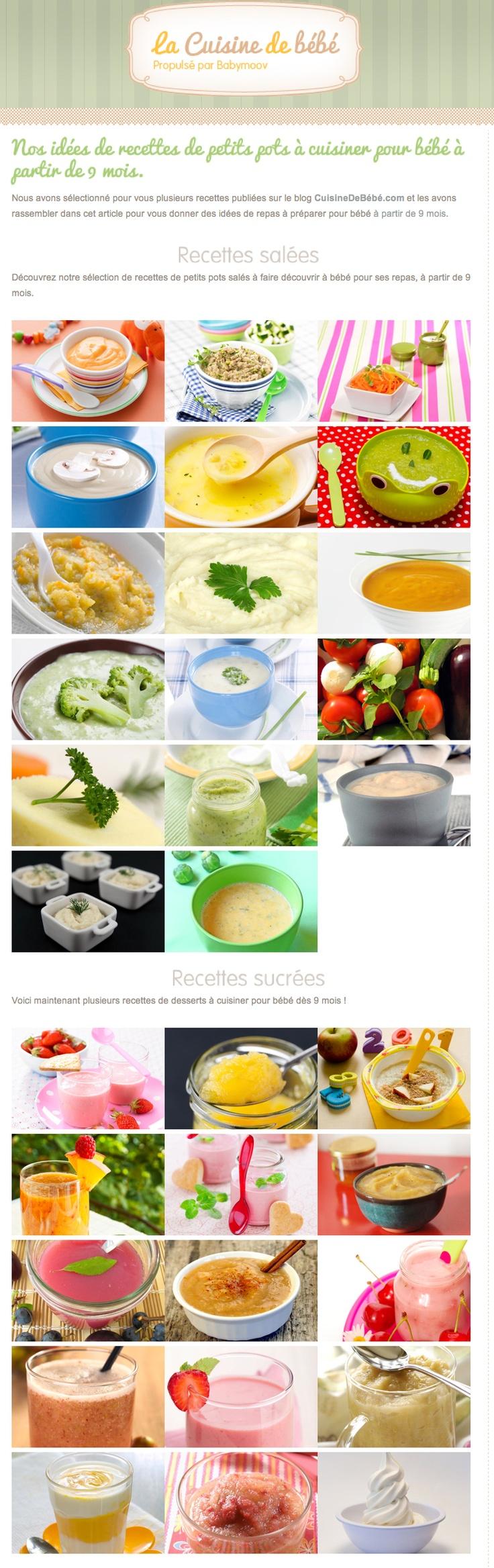 Recettes cuisine pour bébé 9 mois. Plus de recettes pour bébé sur www.enviedebienmanger.fr/idees-recettes/recettes-pour-bebe
