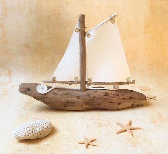 Driftwood Boat Arte Da Praia Arte Com Pedras Ideias Para Oficinas